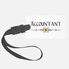 Accountant Decorative Line Luggage Tag