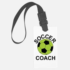 Soccer Coach in Green Luggage Tag