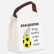 Soccer Goalkeeper Canvas Lunch Bag