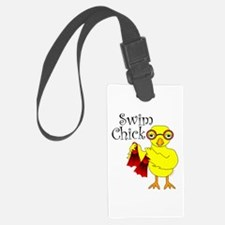Swim Chick Text Luggage Tag
