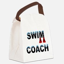 Swim Coach Black Canvas Lunch Bag