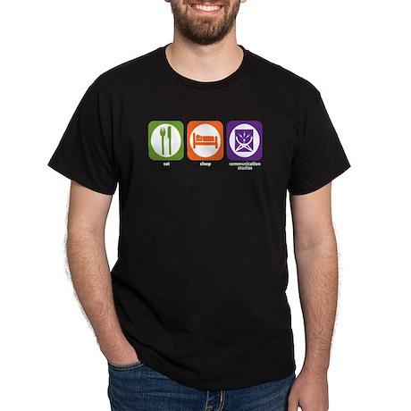 Eat Sleep Communications Dark T-Shirt
