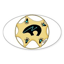Zuni Bear Oval Decal