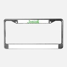 Josiah Glitter Gel License Plate Frame