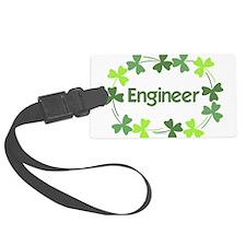 Engineer Shamrocks Luggage Tag
