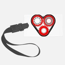 Red Mechanical Heart Luggage Tag
