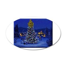 Dominguez High Christmas 20x12 Oval Wall Decal