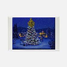 Dominguez High Christmas Rectangle Magnet