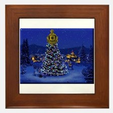 Dominguez High Christmas Framed Tile