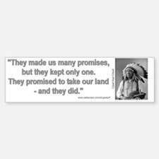"""Native American Promises"" Bumper Sticke"