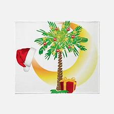 Christmas SC Palmetto Moon Flag Throw Blanket
