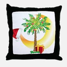 Christmas SC Palmetto Moon Flag Throw Pillow