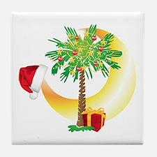 Christmas SC Palmetto Moon Flag Tile Coaster