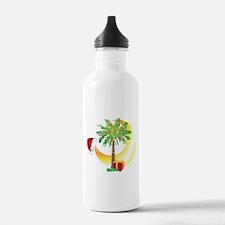 Christmas SC Palmetto Moon Flag Water Bottle