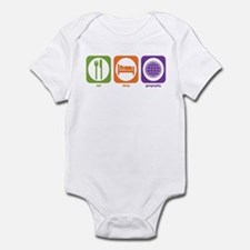 Eat Sleep Geography Infant Bodysuit