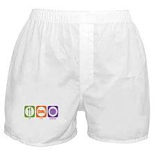 Eat Sleep Geography Boxer Shorts