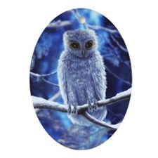Snowy Owl Ornament (Oval)