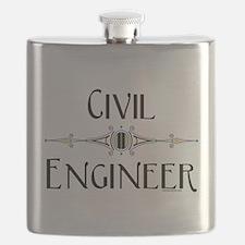Civil Engineer Line Flask