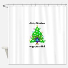 Christmas Hanukkah Interfaith Shower Curtain