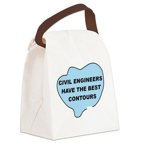 FxContourBlue.png Canvas Lunch Bag