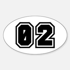 SPORTS JERSEY 02 Oval Decal