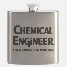 Chemical Engineer Zombie Figh Flask