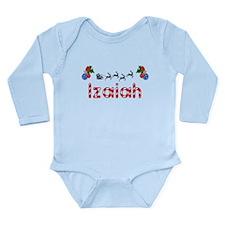 Izaiah, Christmas Long Sleeve Infant Bodysuit