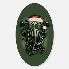 Cthulhu Claus Sticker (Oval)