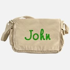 John Glitter Gel Messenger Bag