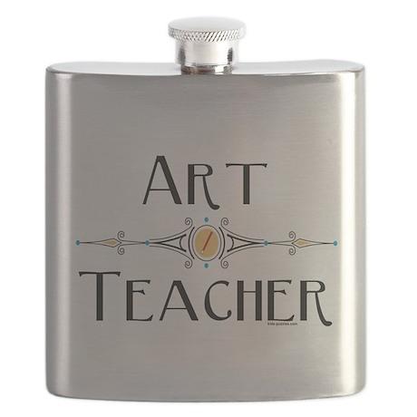Art Teacher Line Flask