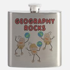 Three Geography Rocks Flask