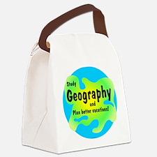 Cute Geography teacher Canvas Lunch Bag