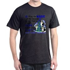 Holiday Penguins Colon Cancer T-Shirt