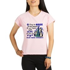 Holiday Penguins Colon Cancer Performance Dry T-Sh