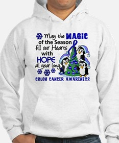 Holiday Penguins Colon Cancer Hoodie