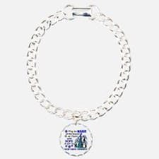 Holiday Penguins Colon Cancer Bracelet