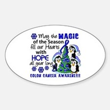 Holiday Penguins Colon Cancer Decal