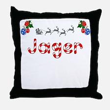 Jager, Christmas Throw Pillow