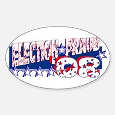 """""""Election Fraud '08"""" Oval Decal"""