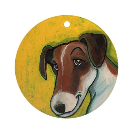Fox Terrier Ornament (Round)