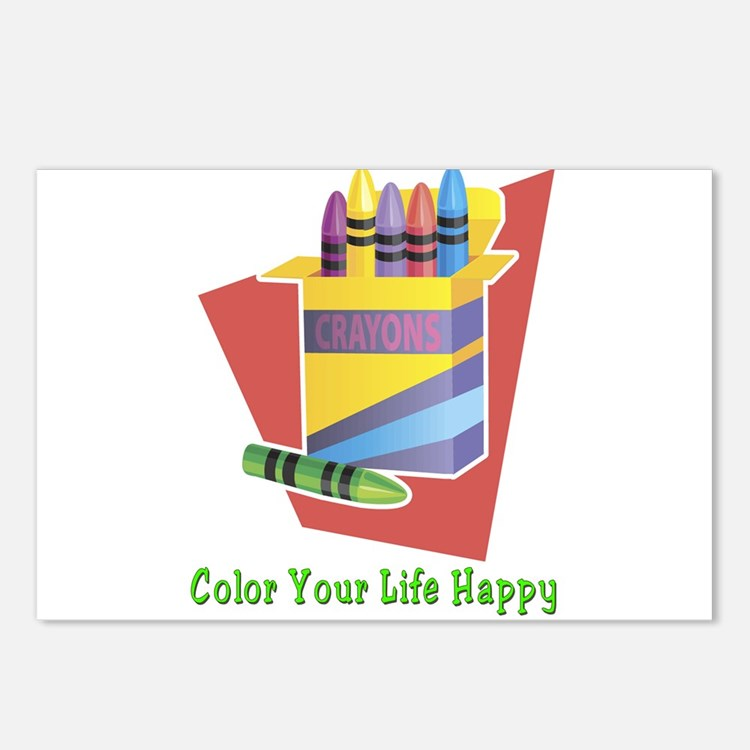 A Happy Life Postcards (Package of 8)