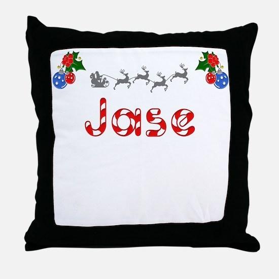 Jase, Christmas Throw Pillow