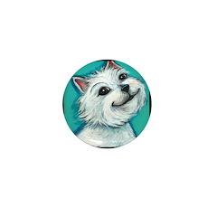 West Highland Terrier Mini Button