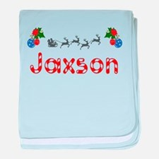 Jaxson, Christmas baby blanket