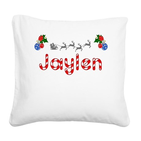 Jaylen, Christmas Square Canvas Pillow