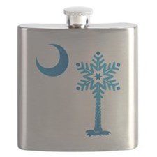 Winter SC Palmetto Snowflake Flask