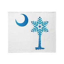 Winter SC Palmetto Snowflake Throw Blanket