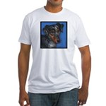 Dachshund Brindle Fitted T-Shirt