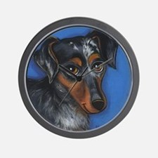 Dachshund Brindle Wall Clock