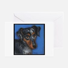 Dachshund Brindle Greeting Cards (Pk of 10)